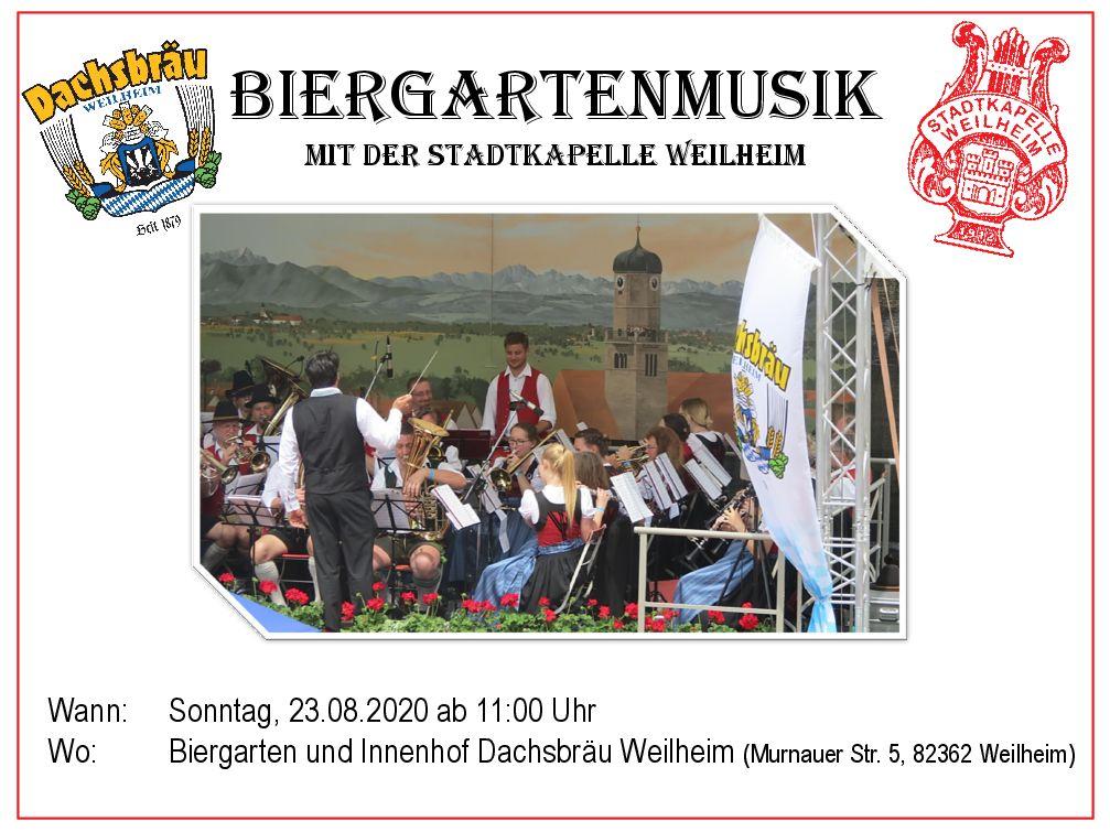 Biergartenmusik mit der Stadtkapelle Weilheim…